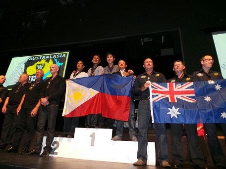 Scene from competition or award ceremony